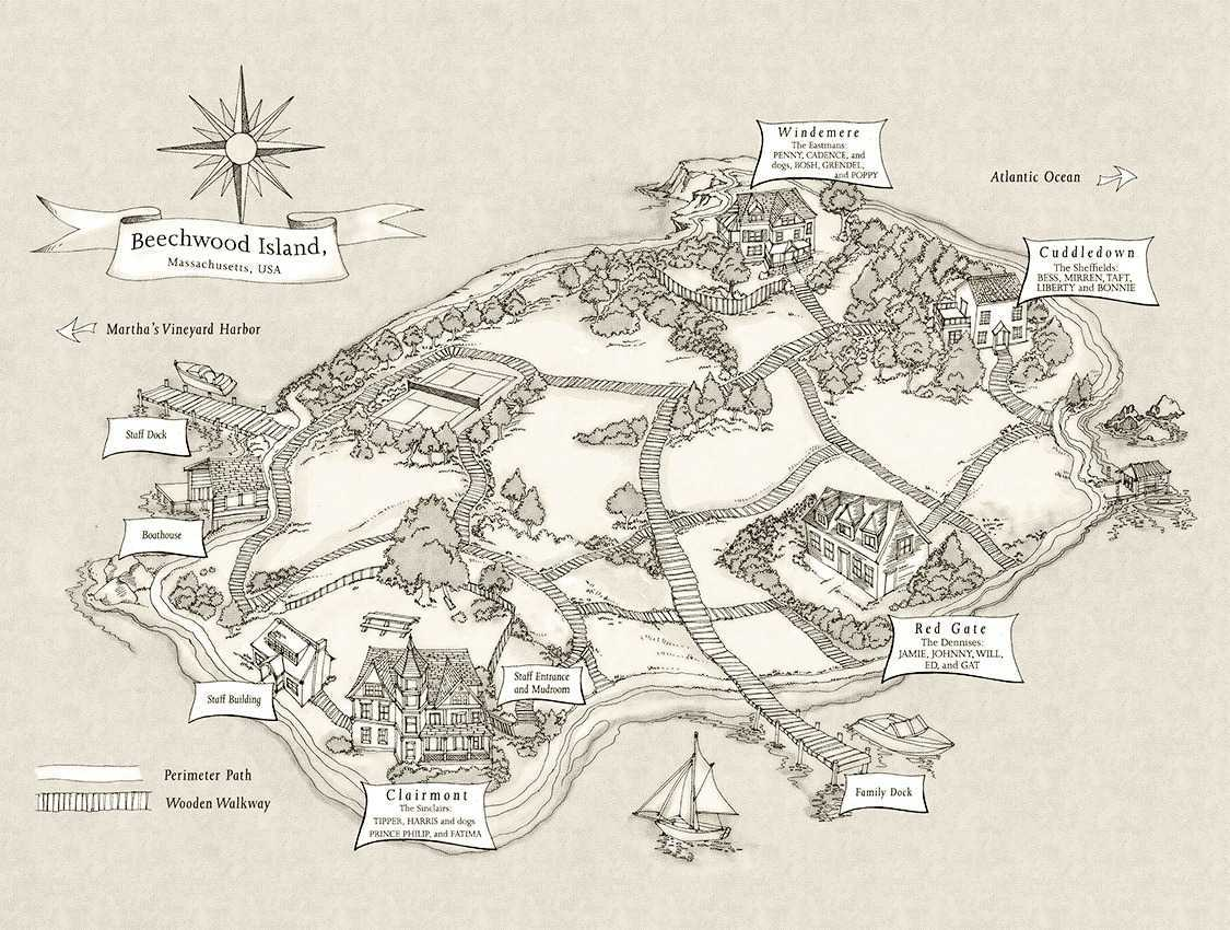 We were liars map of the island