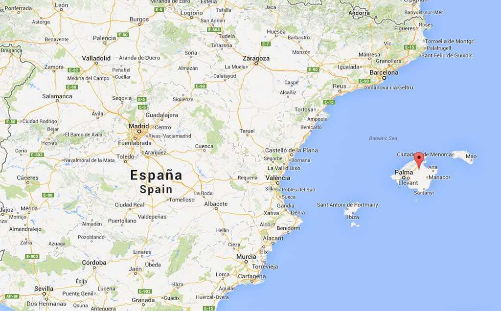 Barselona Madrid ve Mayorka - Google Maps