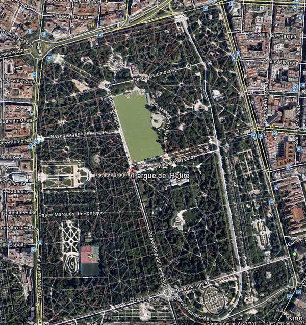 Retiro Park - © Google Earth