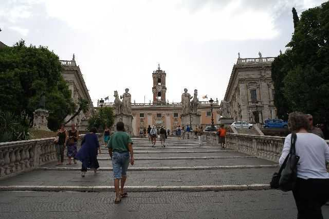 Piazza del Campidoglio with the Palazzo Senatorio