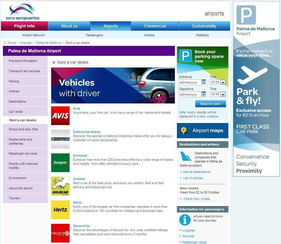 Örnek havaalanı internet sitesi