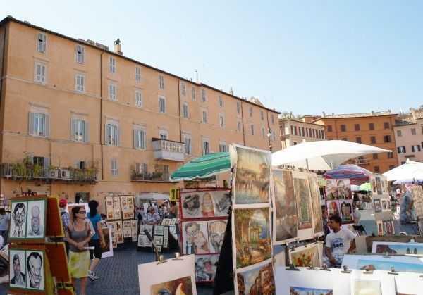 Roma sokaklarında... Navona Meydanı