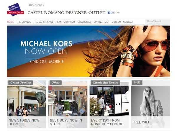 Castel Romano Designer Outlet website