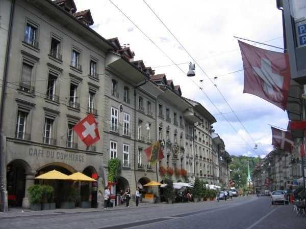 Bern sokaklarında flamalar...