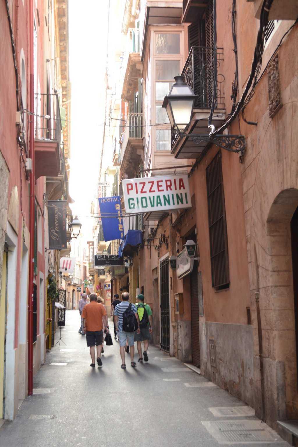 Palma'nın sevimli dar sokakları