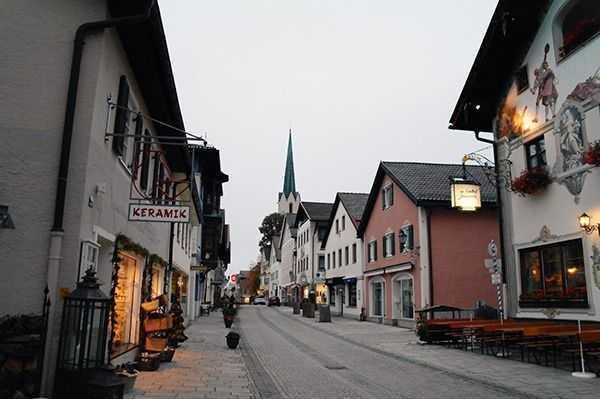 Partenkirchen bölgesi ana cadde