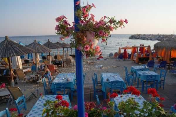 Potos plajında günbatımı