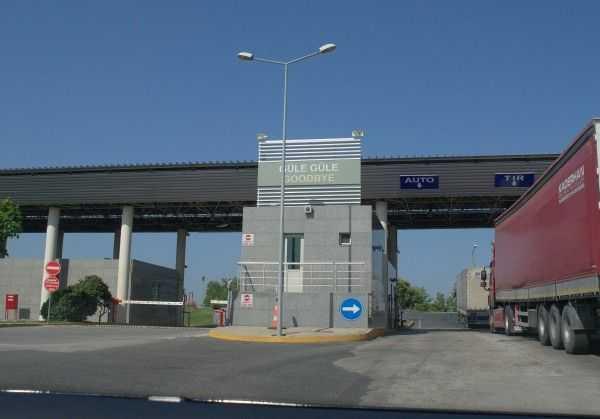 Sınır kapısı pasaport kontrol