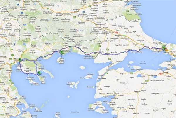 Tatil Rotamız - © Googlemaps