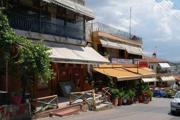 Selanik eski şehir bölgesindeki restoranlar