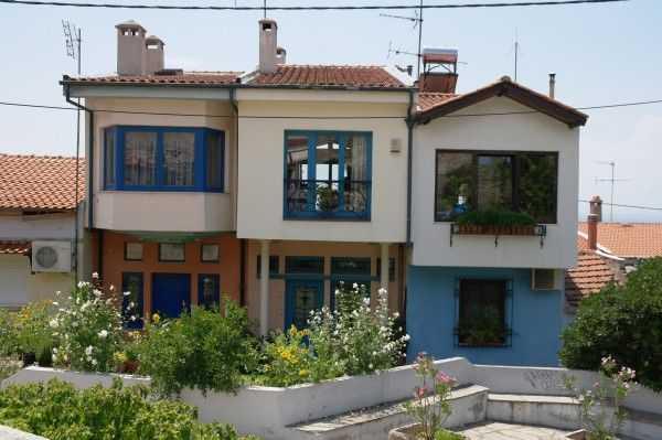 Selanik eski şehir bölgesindeki evler
