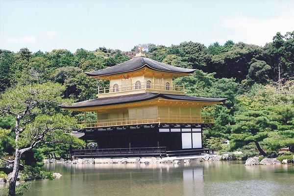 Kyoto'da Altın Tapınak (Kingakuji)