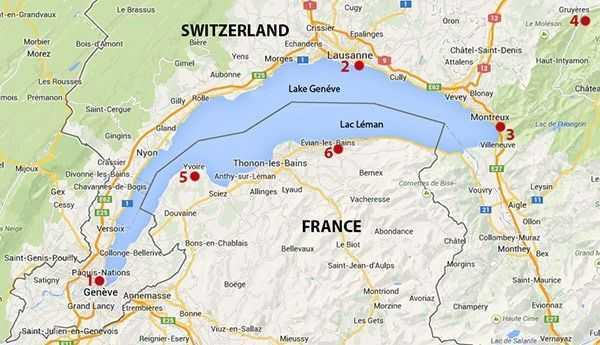 Lac Leman harita
