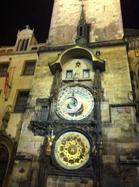 Prag'da ünlü Astronomical Clock