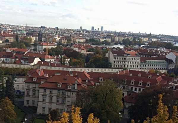 Prag'da kaleden manzara