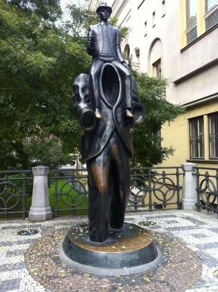 Prag'ta Kafka heykeli