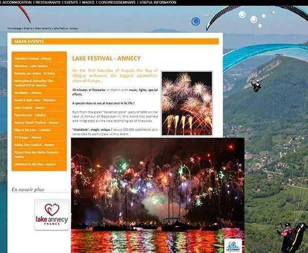 Annecy Gölü Festivali - en.lac-annecy.com