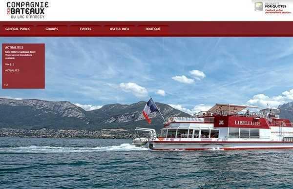 Annecy Gölü Tekne Turları