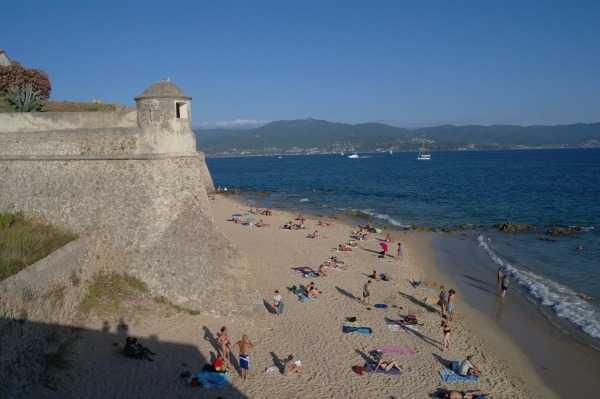 Citadel ve sahile bakan gözetleme kulesi