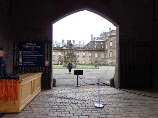 Holyroodhouse Sarayı Girişi - Edinburgh