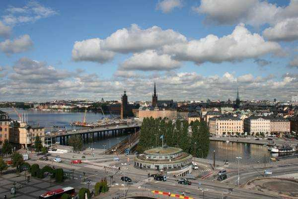 Katarinahissen'den Stockholm manzarası