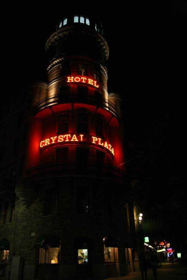 Crystal Plaza gece görüntüsü...