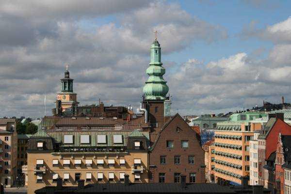 Katarinahissen'den Stockholm manzarası...