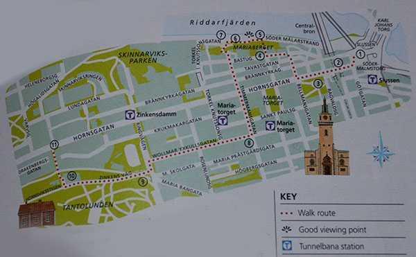 """Eyewitness Travel – Stockholm"""" Rehber Kitabının önerisi yürüyüş rotası..."""