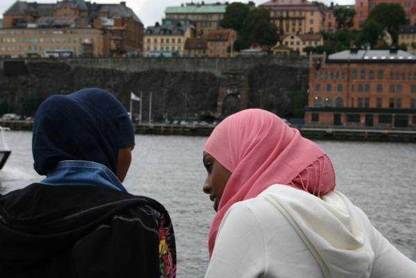 Djurgården'a giden tekneden insan manzaraları…