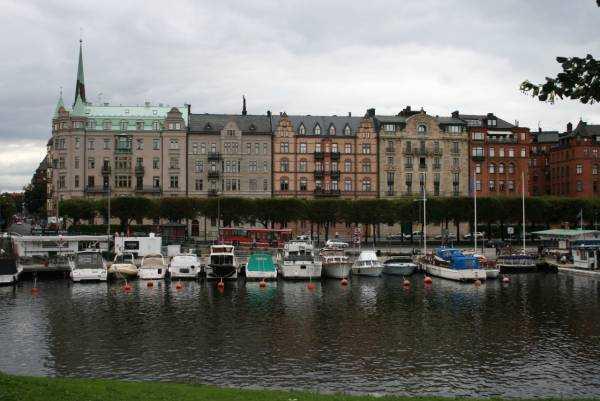 Djurgården yürüyüş yolu başlangıcı…