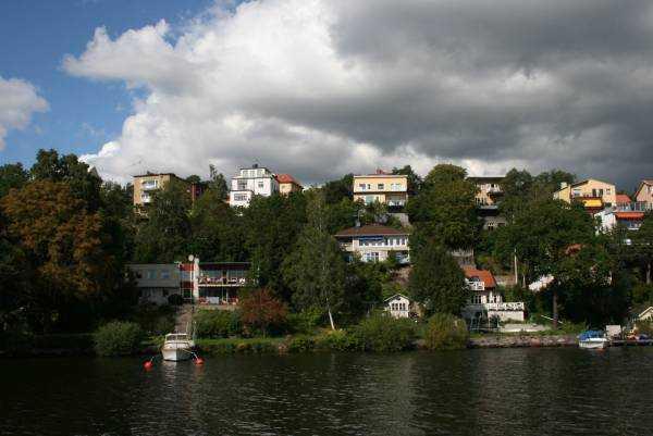 Drottningholm tekne yolculuğundan bir manzara…