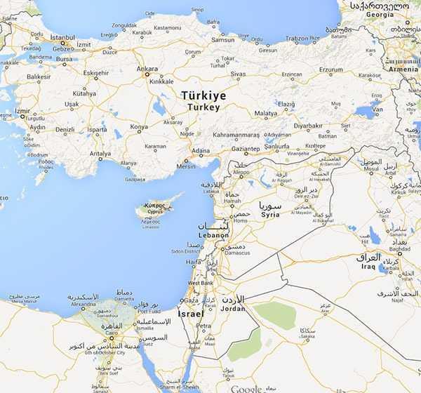 İsrail - © Googlemaps