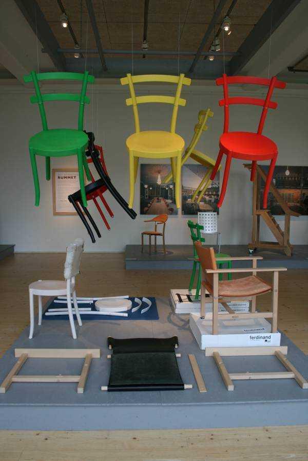 Växjö – Småland Müzesi – Uçan sandalyeler…