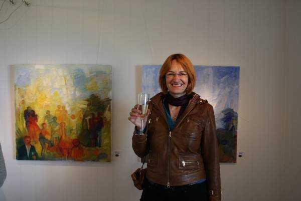 Vadstena'daki resim sergisi açılışı…