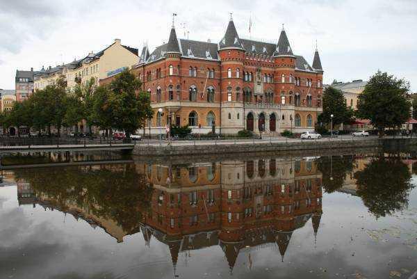 Örebro - Nerikes Allehanda adlı yerel bir gazetenin ofisi…