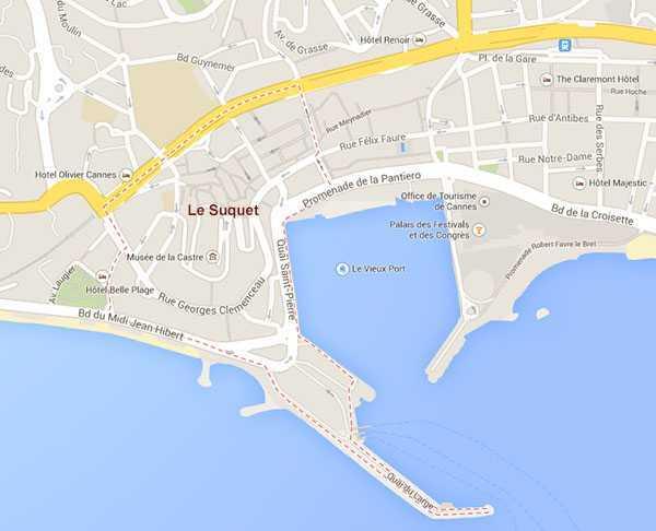 Le Suquet ©  Google Maps