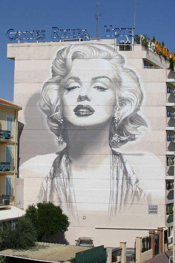 Marilyn Monroe - 16 boulevard d'Alsace -  © www.cannes.com