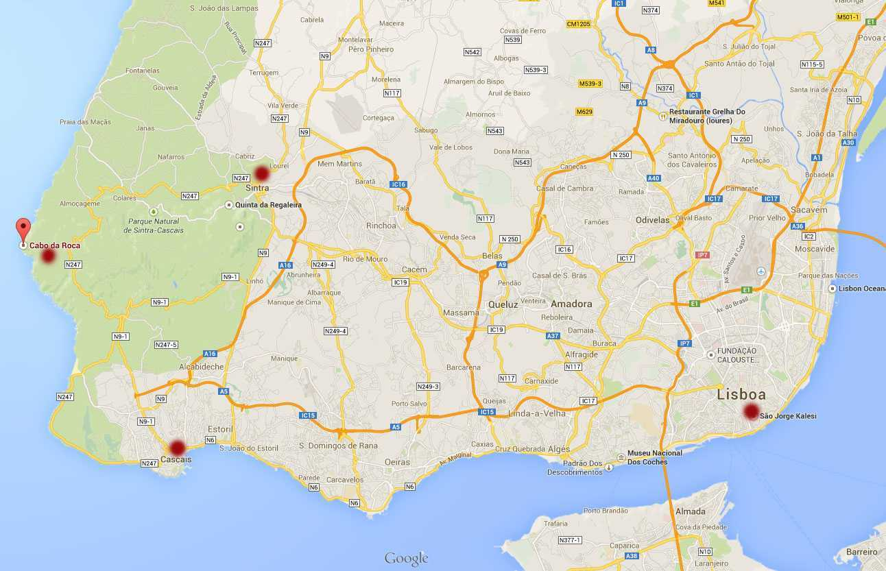 Portekiz Gezisi: Lizbon, Sintra, Cabo da Roca ve Cascais