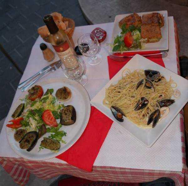 La Claire Fontaine Restoranı'nda yediğimiz yemekler...