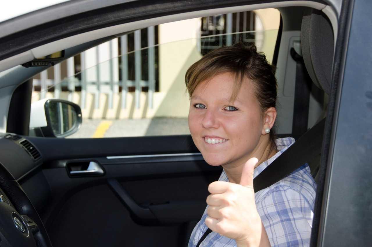 Verona'nın bayan taksi şoförlerinden biri…