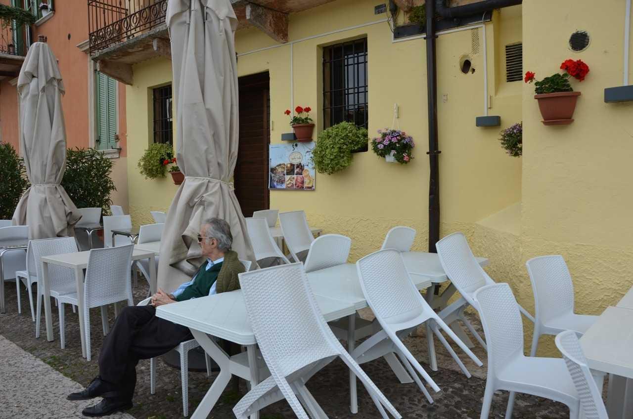 Verona'da şirin bir kafe…