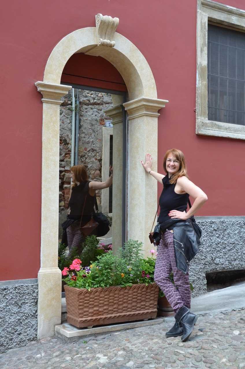 Scalone Castello S.Pietro merdivenlerinden bir detay - Verona…