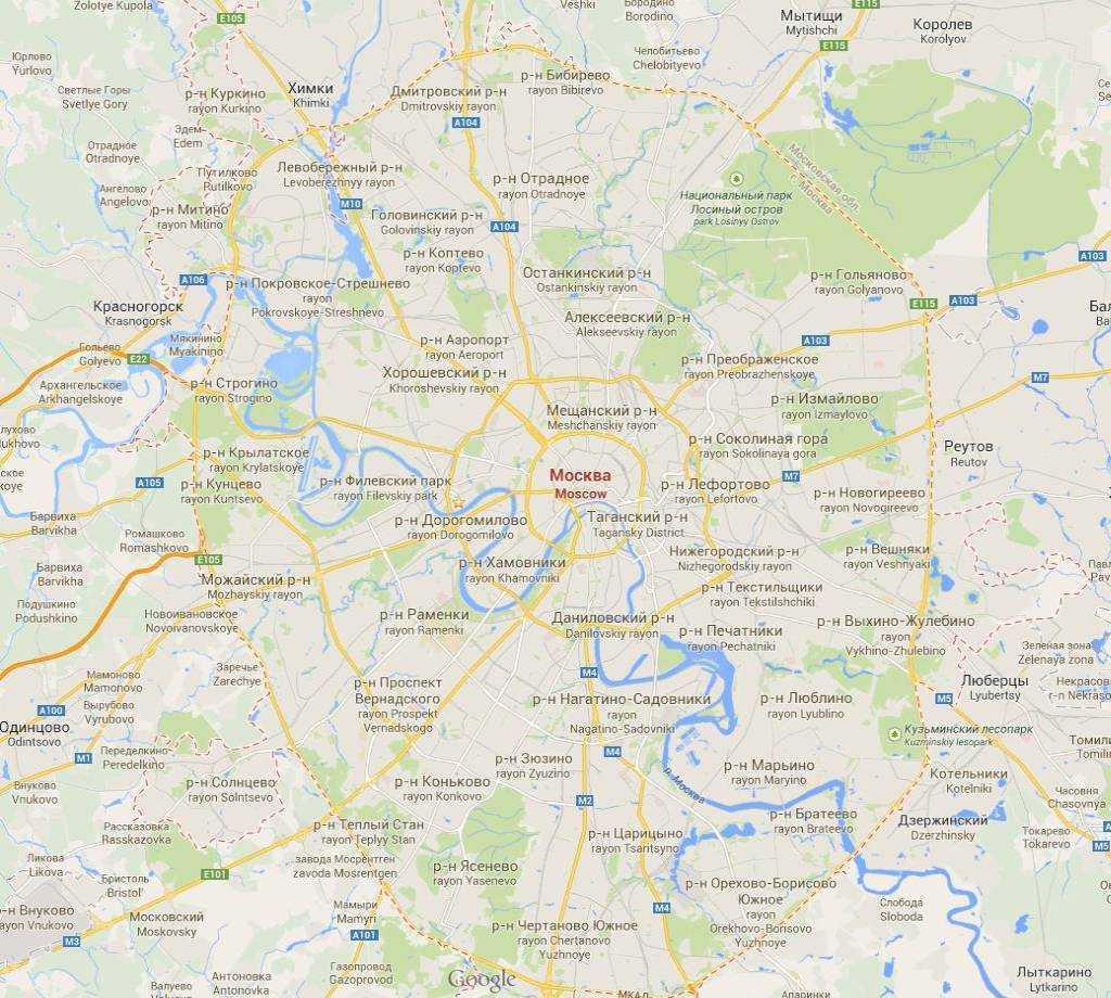 Moskova Şehri © Googlemaps