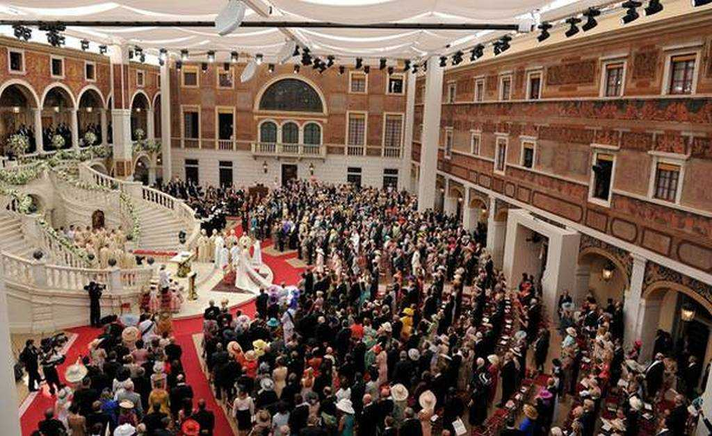 Monako Sarayı İç Avlu - Prince Albert II ve Charlene Wittstock'un düğünü