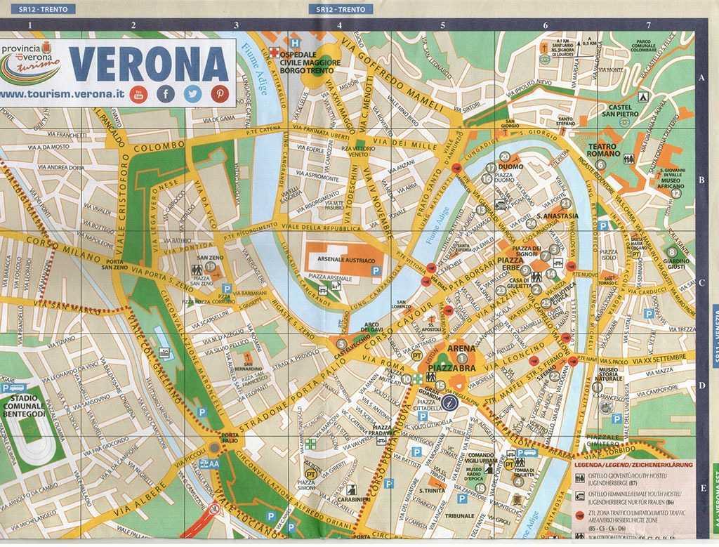 Verona şehir haritası © tourism.verona.it