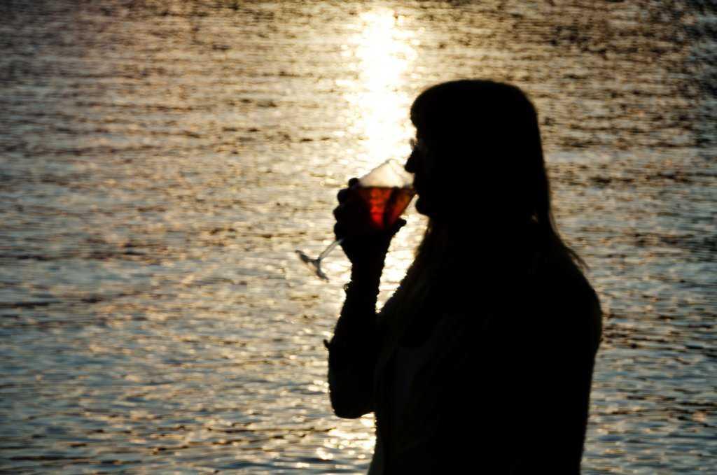 Garda Gölünün Garda Kasabasında Spritz keyfi…
