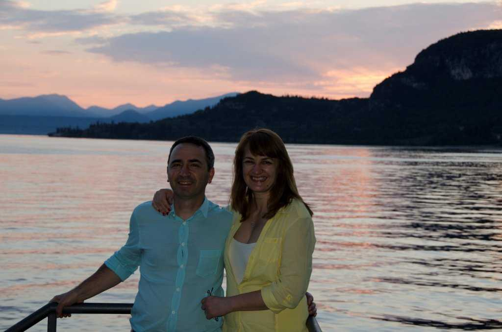 Garda Kasabasının gün batım manzarası şahane…