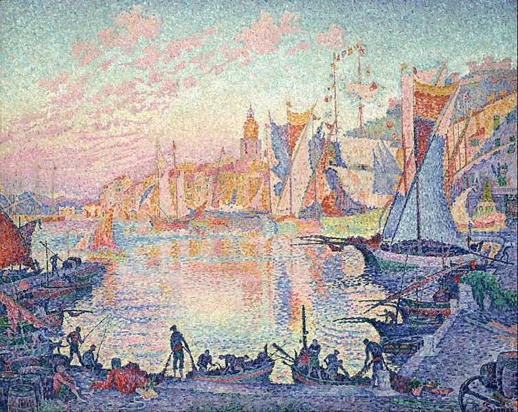 754px-Paul_Signac_-_The_Port_of_Saint-Tropez_-_Google_Art_Project