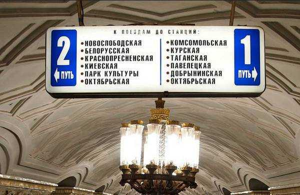 kiril on metro stations