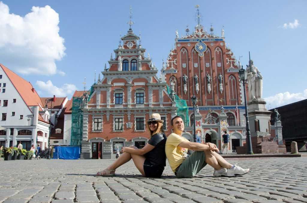 Letonya'nın başkenti Riga'nın en ikonik yapısı The House of Blackheads…